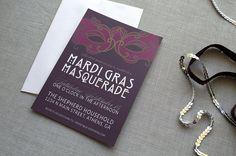 Custom Mardi Gras Masquerade Party Invitation by LAShepherd on Etsy