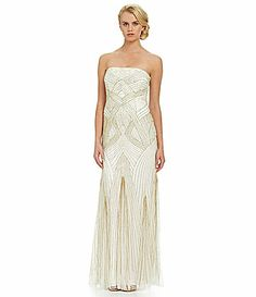 JS Collections Long Strapless Beaded Gown #Dillards Great Gatsby style 420