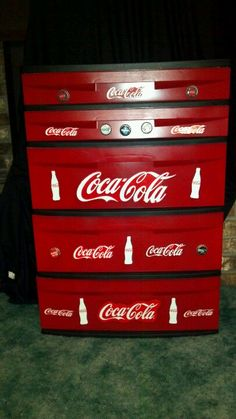 Coca Cola fun!  My latest project ... from a plastic storage container to this...yay
