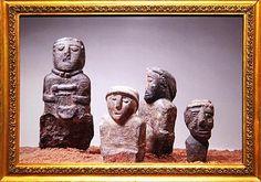 Photo de sculptures gauloises