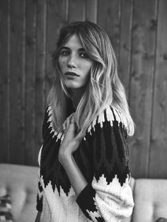 Hand knitted, oversized cashmere jumper from our Snow 2015 collection, as worn by Veronika Heilbrunner