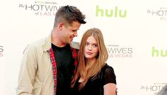 Max Carver and Holland Roden attend a screening of Hulu and Paramount Digital Entertainment's 'The Hotwives of Las Vegas' at the Sherry Lansing Theatre at Paramount Studios on August 10, 2015 in Los Angeles, California.