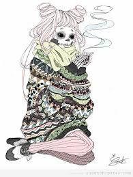 Resultado de imagen de dibujos de chicas hipsters
