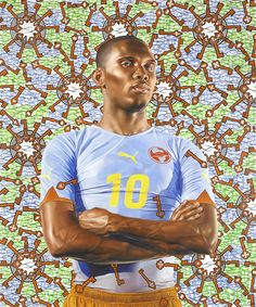 Colorful World of Kehinde Wiley Kehinde Wiley (born 1977) is a New York-based portrait painter who is known for his highly naturalistic paintings of people with brown skin in heroic poses.