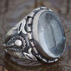 Silver Ring Crystal Quartz Men Sterling 925 Mens Jewelry Dhur al-Najaf #KaraJewels #Handcrafted