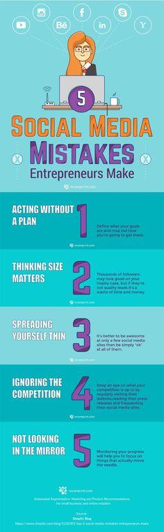 5 Social Media Marketing Mistakes to Avoid [Infographic]