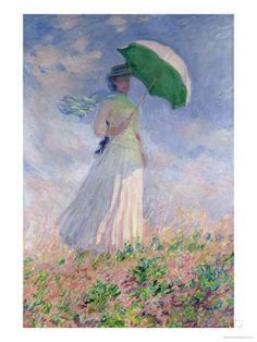 Woman with a Parasol Turned to the Right, 1886  Claude Monet