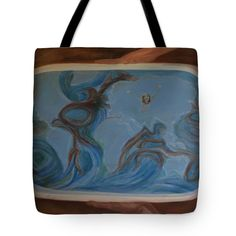 Streams Tote Bag by Ildiko Mecseri. The tote bag is machine washable, available in three different sizes, and includes a black strap for easy carrying on your shoulder. Thing 1, Poplin Fabric, Bag Sale, Fine Art America, Tote Bag, Stitch, Prints, Bags, Handbags