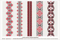 Traditional Romanian blouses are made from cotton or linen, sometimes silk, and… Embroidery Motifs, Beaded Embroidery, Embroidery Designs, Cross Stitch Borders, Cross Stitch Patterns, Palestinian Embroidery, Moldova, Embroidery Techniques, Loom Beading