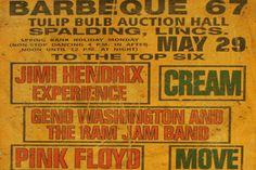 pink floyd concert posters | Jimi Hendrix, Cream, Pink Floyd 1967 Concert Poster Sells for $1635