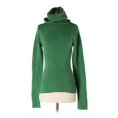 Tibi Ioden Green Turtleneck Oversized Pullover (1.390 BRL ...