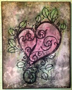 Watercolor Heart Canvas Art by CleverMakings on Etsy, €46.00