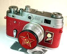 I like vintage things - 1961 Antique Red Star FED-3 camera rare Russian LEICA -from RussianVintage