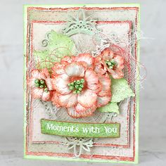Heartfelt Creations - Beautiful Moments with You Project Card Making Tutorials, Making Ideas, Heartfelt Creations Cards, Punch Art, Owl Punch, Stampin Up Christmas, Pink Paper, Flower Cards, Paper Flowers