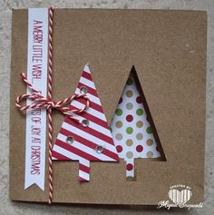 Magical Scrapworld: Stampin' Up!, Festival of trees, Christmas card