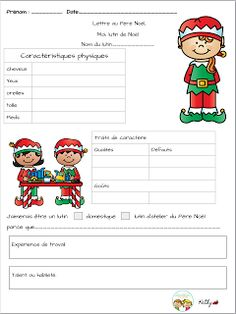 La classe de madame Kathy: lutins Core French, French Class, French Teacher, Teaching French, French Worksheets, French Immersion, Sewing Kit, Christmas Activities, Teaching Tools