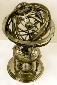 Armillary sphere made in 1562 by Gualterus Arsenius in Louvain.
