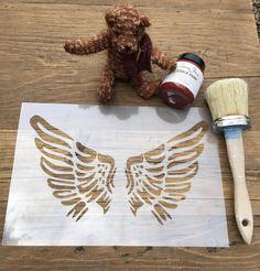 Angel Wings, Wings Stencil, Nursery Stencil, Furniture Stencil, Baby Stencil, Childrens Stencil, Childrens Wings, Art Stencil, Craft Stencil by LaserAnything on Etsy