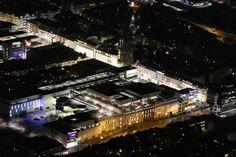 """Berlin-Steglitz 2017 Nachtluftbild Einkaufszentrum """"Boulevard Berlin"""""""