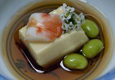 Tamago dôfu - uma entrada clássica japonsesa  Tsuyoshi Murakami - Restaurante Kinoshita