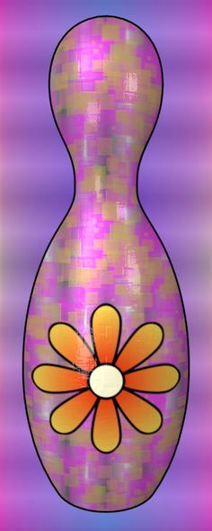 Flower Bowling Pin / #Plant