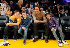 Lakers - David, Brooklyn, Romeo & Cruz Beckham Thanks parents for the lack of amazeball genes...