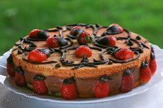 Tarta Mousse de Chocolate y Fresas (Con Thermomix)
