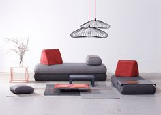 Urban Nomad sofa designed by Anikó Rácz for Hannabi