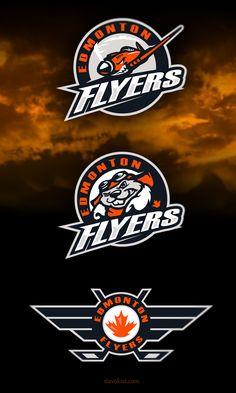 Awesome logo set for Edmonton Flyers Hockey Club Identity by Slavo Kiss - https://www.behance.net/SlavoKiss