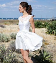 Robe de mariée courte - Marie Laporte, modèle Audrey, prix sur demande