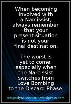 Dating a narcissist phases