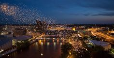 Chinese Lanterns over Grand Rapids