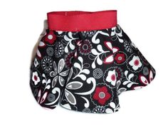 0-3 Month Red Floral Circle Skirt from Bunky Fluff