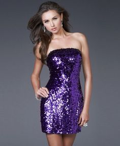 (HUNG009084)2013 Style Empire Strapless Sleeveless Short / Mini Sequins Bridesmaid / Cocktail Dresses / Homecoming Dresses