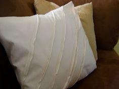 Something Pretty: Flap closure pillow