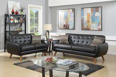 2 Piece Living Room Set w/ Accent Pillows