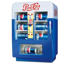 retro pepsi vending fridge | Amazon.com: Vintage-style Mini Pepsi® Vending Machine / Refrigerator