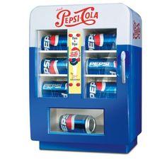 retro pepsi vending fridge   Amazon.com: Vintage-style Mini Pepsi® Vending Machine / Refrigerator