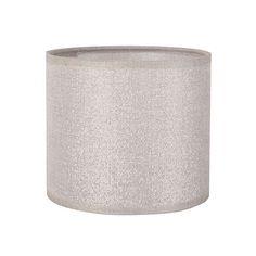 Abat jour cylindre en coton avec paillettes pour culot E27 Shine