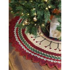 Christmas Tree Skirt  -  Free Crochet Pattern