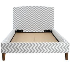Kids' Beds: Kids Chevron Upholstered Bed in Beds