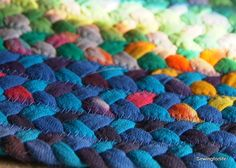 I'm wretched at sewing but I bet if I braided it up I could con my mom into doing the sewing, haha. I can remember braiding material as a kid that mom would sew into rugs, but it was mostly for function. I never thought to make it into art. I feel kinda' daft.  ----  oooh much easier than my awful crochet