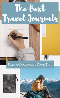 Roundup of the 10 BEST Travel Journals to help you plan and document your next trip. Plus they make great travel gifts! Travel Gifts, Travel Deals, Travel Destinations, Best Travel Journals, Ways To Travel, Travel Hacks, Travel Packing, Online Travel, Travel Memories