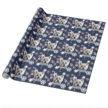 WINTERY WESTIE WRAPPING PAPER