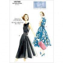 Misses Dress Vogue Pattern 8788.