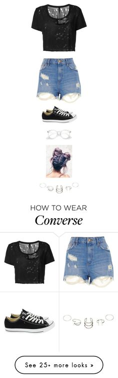 """Untitled #3884"" by twerkinonmaz on Polyvore featuring Unravel, River Island and Converse"