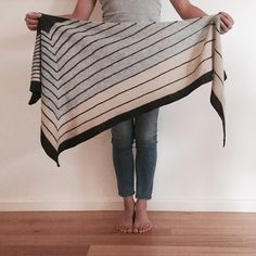 """496 Synes godt om, 44 kommentarer – Kerist (@keristk) på Instagram: """"Stripe study shawl blocked and beautiful.  This knit starts with just 7 stitches, then it continues…"""""""