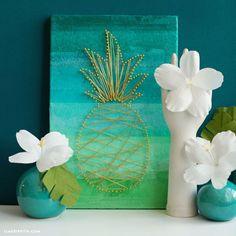 #MakeItFunCrafts #tropical #homedecor #pineapple  www.LiaGriffith.com