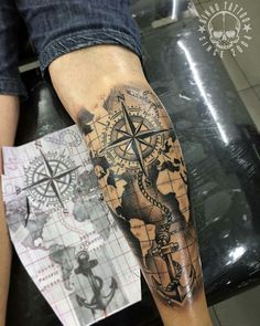 Bein tattoos tattoos, forarm tattoos и map tattoos Navy Tattoos, Forarm Tattoos, Forearm Sleeve Tattoos, Leg Tattoo Men, Tattoo Sleeve Designs, Trendy Tattoos, Tattoo Designs Men, Leg Tattoos, Body Art Tattoos