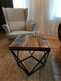 Coffee table base Bedside table DIY Modern Design Metal Furniture, Handmade Furniture, Table Furniture, Rustic Furniture, Living Furniture, Coffee Table Base, Steel Coffee Table, Gold Table, Rustic Industrial